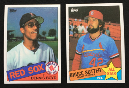 1985 Topps Baseball Card Commons