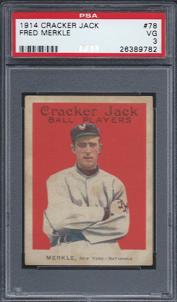 1914 Cracker Jack E145-1 #78 Fred Merkle PSA 3