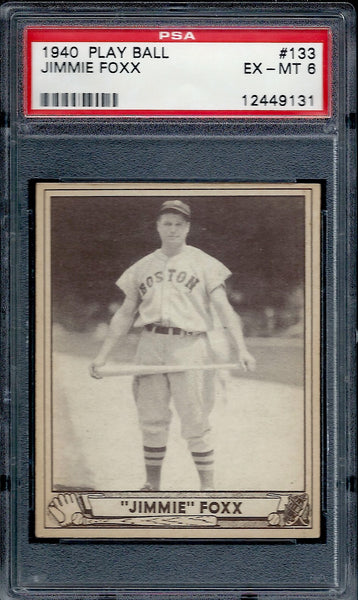 1940 Play Ball Jimmie Foxx PSA 6
