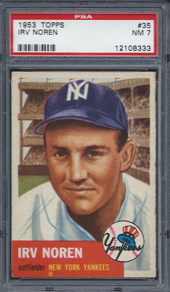 1953 Topps #35 Irv Noren PSA 7 NM New York Yankees