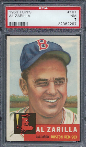 1953 Topps #181 Al Zarilla PSA 7 NM Boston Red Sox