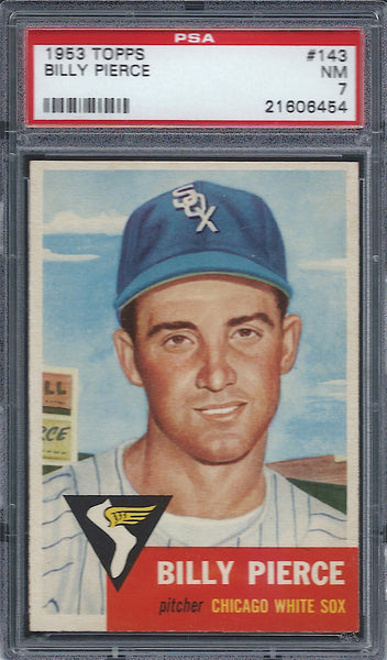 1953 Topps #143 Billy Pierce PSA 7 NM Chicago White Sox
