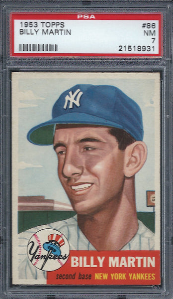1953 Topps #86 Billy Martin PSA 7 NM New York Yankees