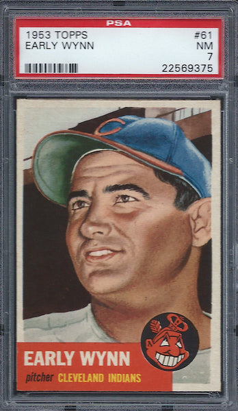 1953 Topps #61 Early Wynn PSA 7 NM Cleveland Indians