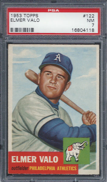 1953 Topps #122 Elmer Valo PSA 7 NM Philadelphia Athletics