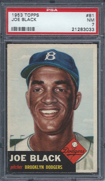 1953 Topps #81 Joe Black PSA 7 NM Brooklyn Dodgers