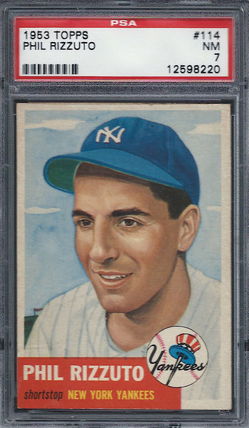 1953 Topps #114 Phil Rizzuto PSA 7 NM New York Yankees