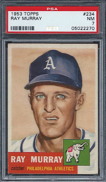 1953 Topps #234 Ray Murray PSA 7 NM Philadelphia Athletics
