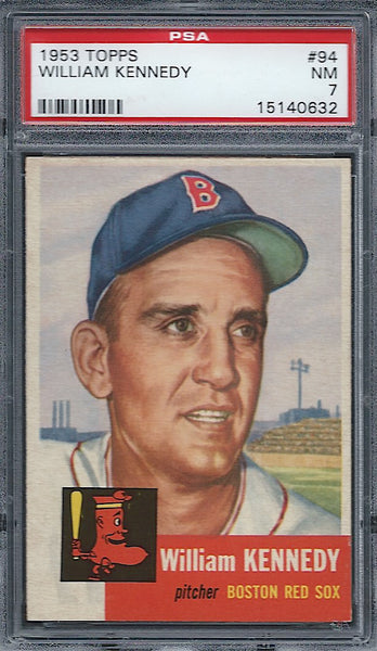 1953 Topps #94 William Kennedy PSA 7 NM Boston Red Sox