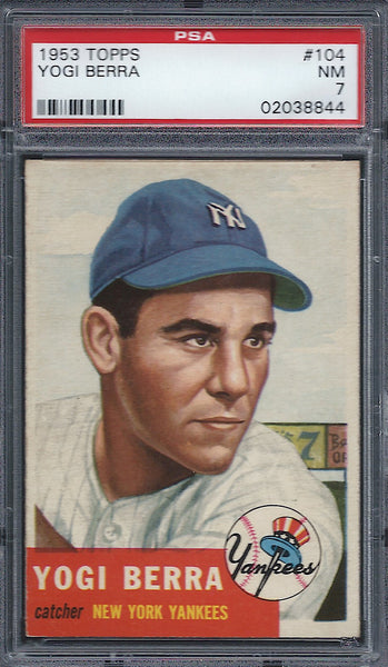 1953 Topps #104 Yogi Berra PSA 7 NM New York Yankees