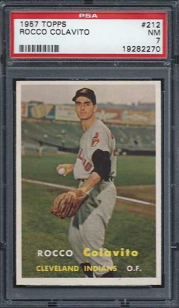 1957 Topps #212 Rocky Colavtio Rookie RC PSA 7 NM