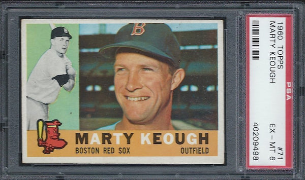 1960 Topps #71 Marty Keough PSA 6 EX-MT