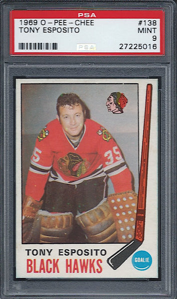 1969-70 OPC Tony Esposito Rookie RC PSA 9 Mint Blackhawks