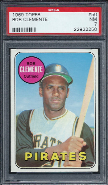1969 Topps #50 Roberto Clemente Pittsburgh Pirates