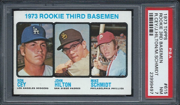1973 Topps Mike Schmidt Rookie Card PSA 7