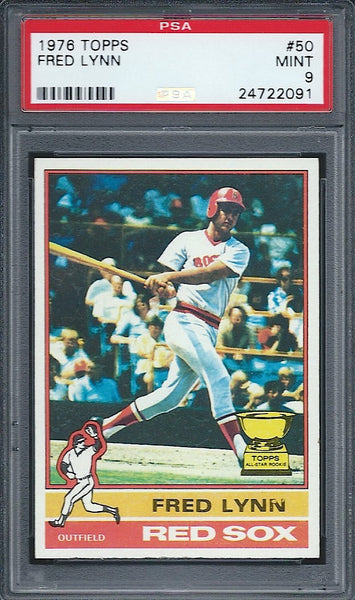 1976 Topps Fred Lynn PSA 9 Red Sox