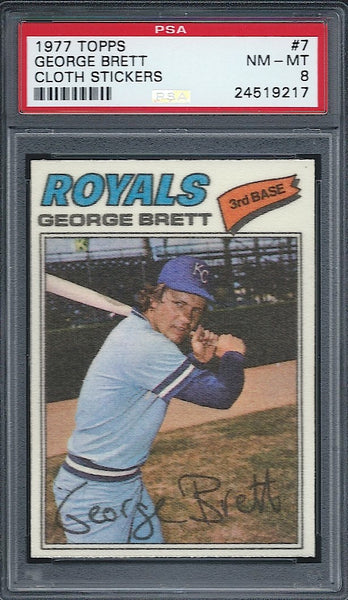 1977 Topps Cloth George Brett Royals PSA 8
