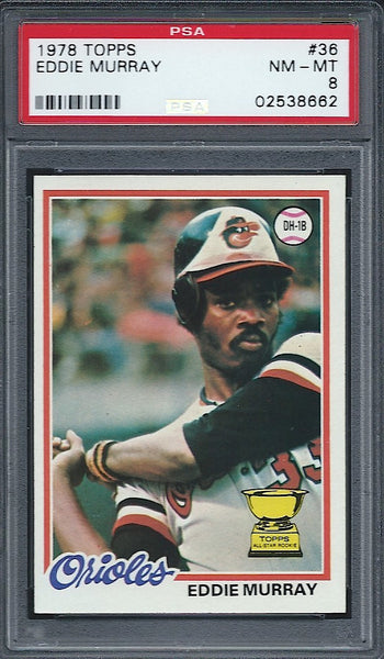 1978 Topps Eddie Murray Rookie Card PSA 8