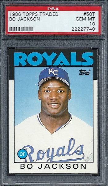 1986 Topps Traded Bo Jackson Rookie PSA 10