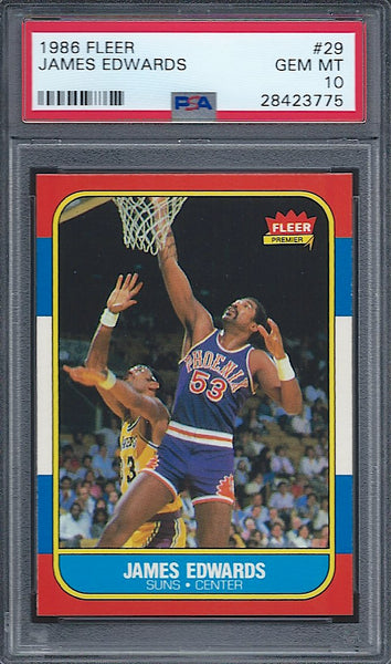 1986-87 Fleer #29 James Edwards PSA 10