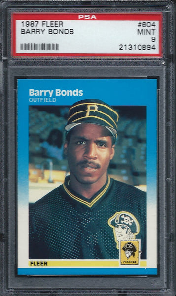 1987 Fleer #604 Barry Bonds PSA 9