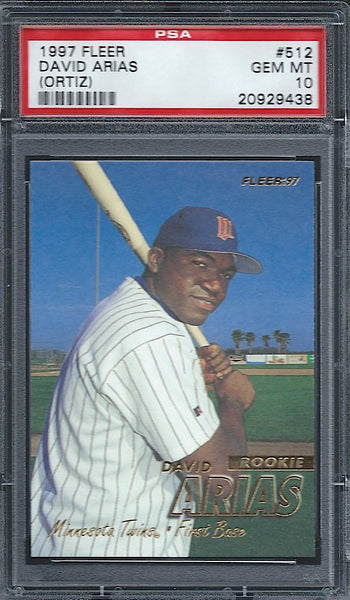 1997 Fleer #512 David Ortiz Rookie RC PSA 10 Gem Mint Boston Red Sox