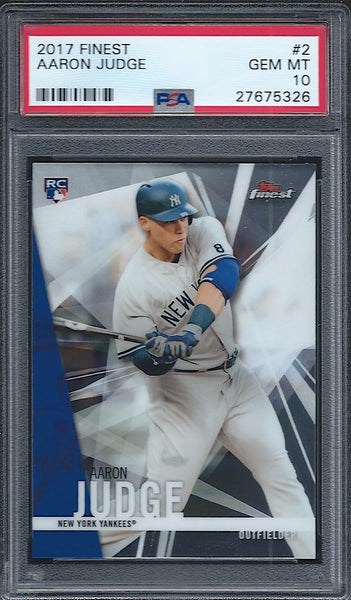 2017 Topps Finest Aaron Judge Rookie PSA 10 Gem Mint