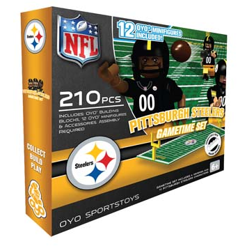 OYO Pittsburgh Steelers Gametime 210 PCs