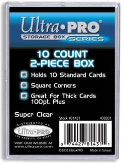 Ultra Pro 10 Count 2 Piece Box