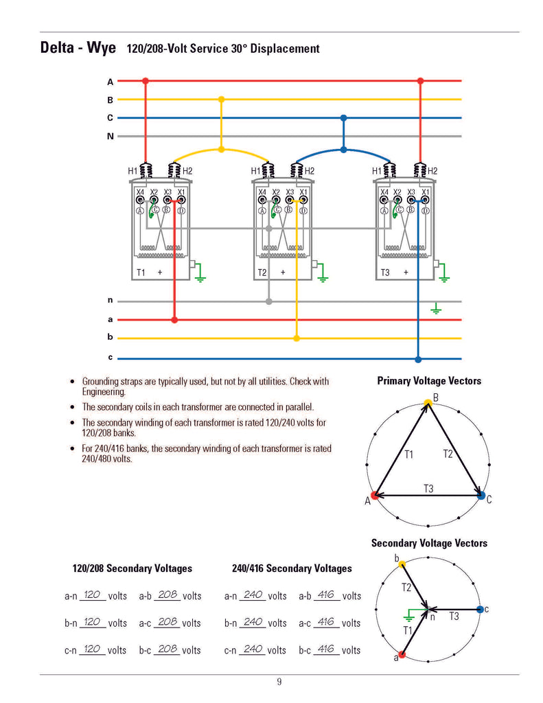 [ZTBE_9966]  Transformer Connection Diagrams – Alexander Publications | 208 Transformer Wiring Diagram |  | Alexander Publications
