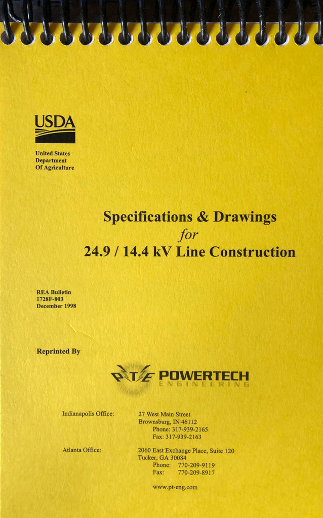 RUS Specifications and Drawings for 24.9/14.4 kV line Construction