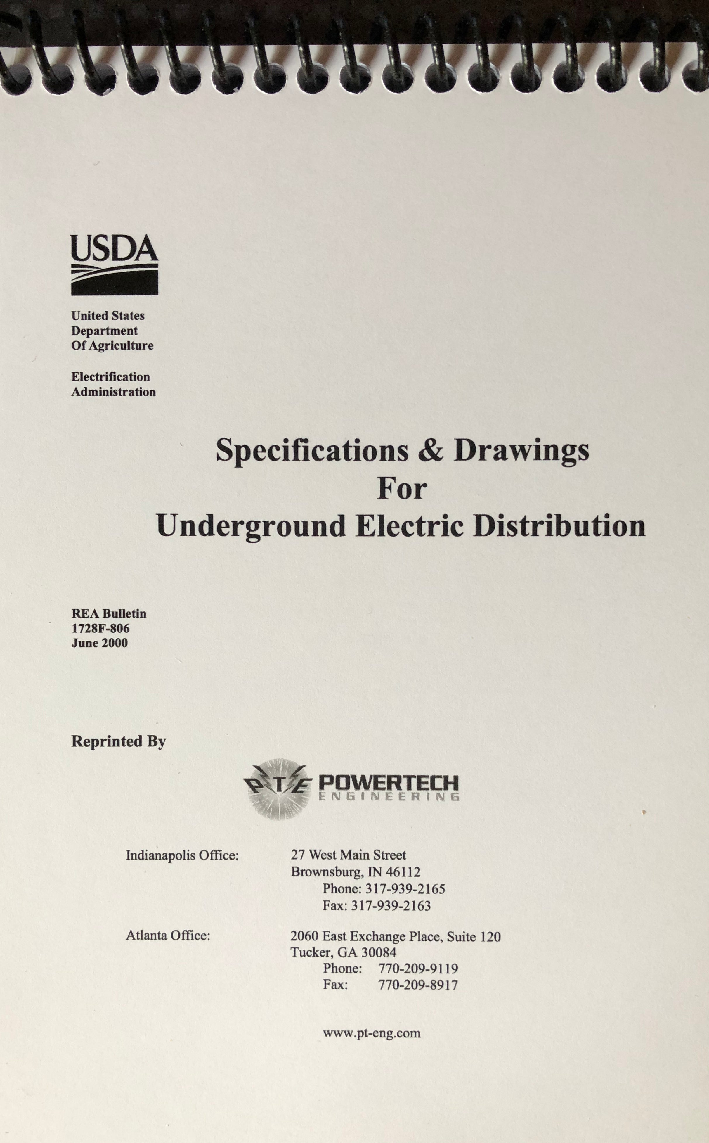 RUS Specifications and Drawings for Underground Electrical ...
