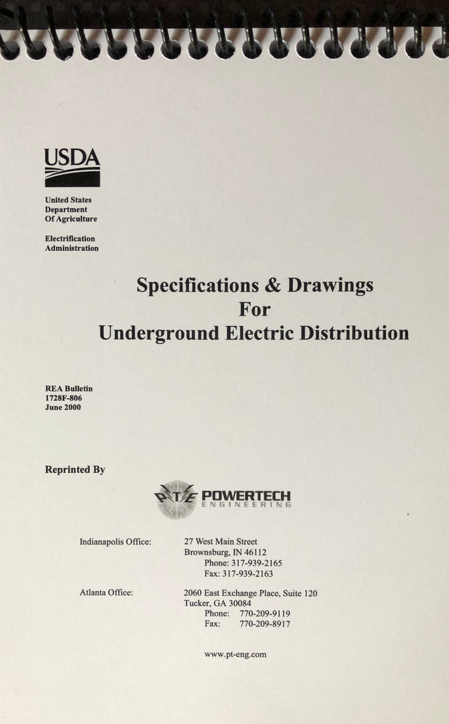 RUS Specifications and Drawings for Underground Electrical Distribution