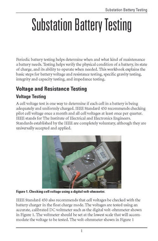 Substation Battery Testing - Study Guide
