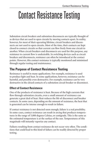 Contact Resistance Testing - Study Guide