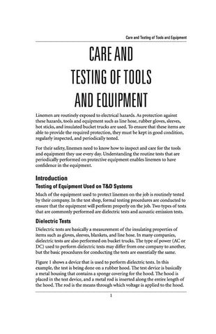 Care and Testing of Tools and Equipment - Study Guide