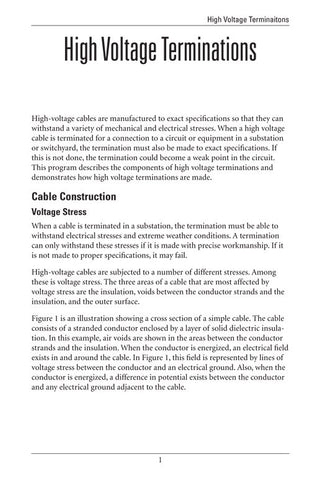 High Voltage Terminations - Study Guide