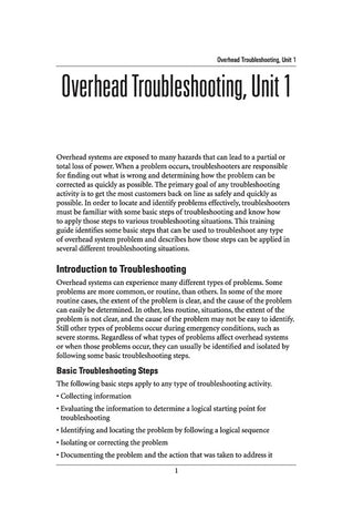 Overhead Troubleshooting 1 - Study Guide