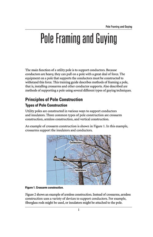 Pole Framing and Guying - Study Guide – Alexander Publications