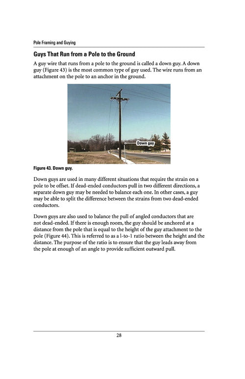 pole framing and guying study guide alexander publications