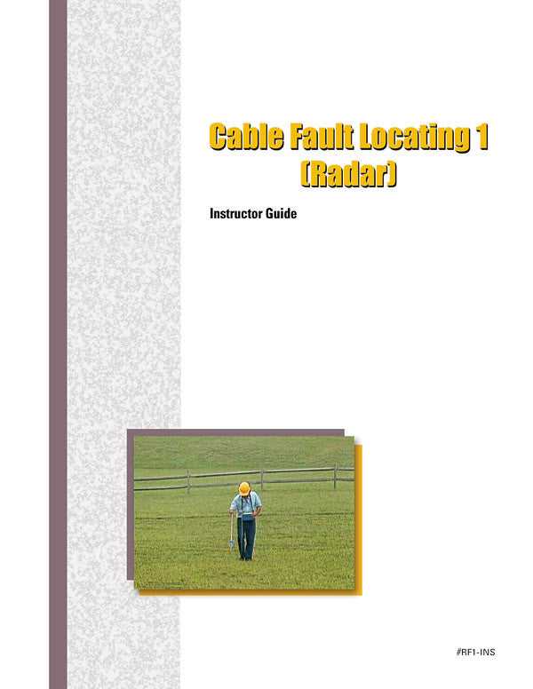 Cable Fault Locating 1 (Radar) - Instructor Guide