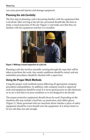 Safety in Meter Work - Study Guide