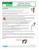 Rubber Glove Safety Reminders - Safety Topic