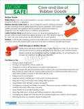 Care and Use of Rubber Goods - Safety Topic