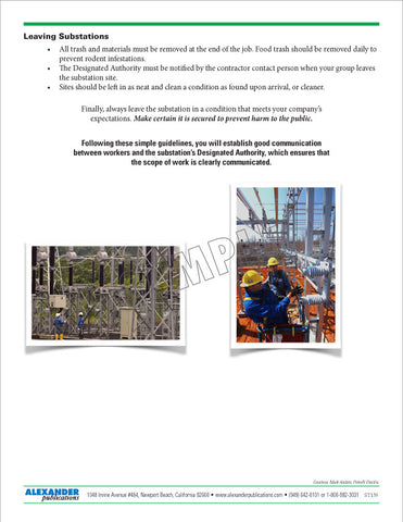 Substation Safety - Safety Topic