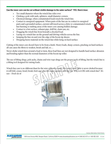 Winch Lines - Safety Topic