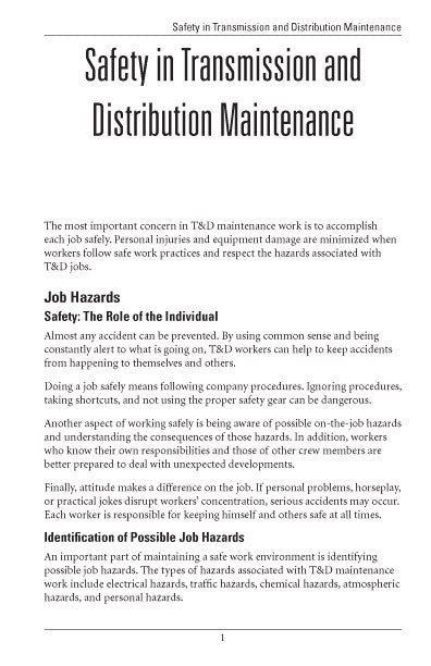 Safety in T&D Maintenance - Study Guide – Alexander Publications