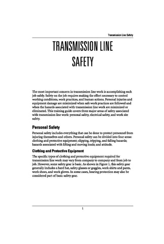 Transmission Line Safety - Study Guide