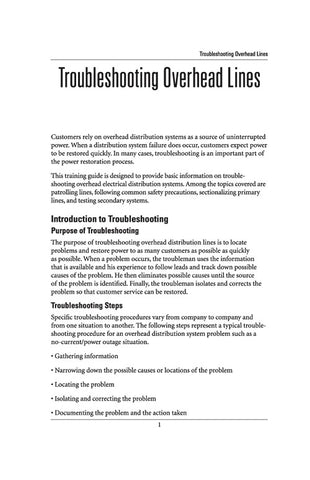 Troubleshooting Overhead Lines - Study Guide