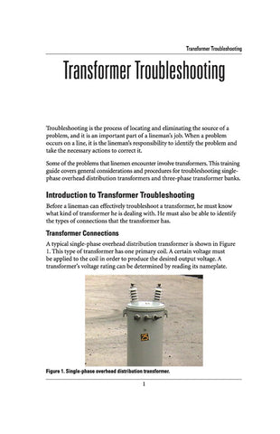 Transformer Troubleshooting - Study Guide
